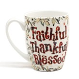 Faithful, Thankful, Blessed, Gift Boxed Mug