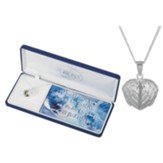 Heart Locket with Wings Necklace