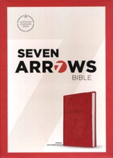CSB Seven Arrows Bible: The How-to-Study Bible for Students, Crimson LeatherTouch Imitation Leather