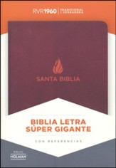 Biblia RVR 1960 Letra Super Gigante, Piel Fab. Marron  (RVR 1960 Super Giant-Print Bible, Bon. Leather, Brown) - Imperfectly Imprinted Bibles