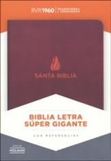 Biblia RVR 1960 Letra Super Gigante, Piel Fab. Marron, Ind.  (RVR 1960 Super Giant-Print Bible, Bon. Leather, Brown, Ind.)