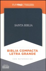 RVR 1960 Large-Print Compact Bible--bonded leather, black (indexed)