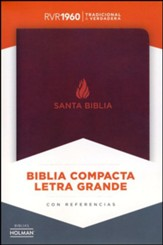 Biblia Compacta Letra Gde. RVR 1960, Piel Fab. Marron  (RVR 1960 Lge. Print Compact Bible, Bon. Leather, Brown)