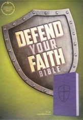 CSB Defend Your Faith Bible The Apologetics Bible for Kids, , Plum LeatherTouch Imitation Leather