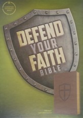CSB Defend Your Faith Bible: The Apologetics Bible for Kids, Walnut LeatherTouch Imitation Leather