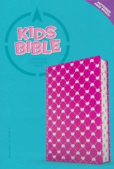 CSB Kids Bible--soft leather-look, pink with shiny hearts