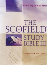 NKJV Scofield Study Bible III, Largeprint, Bonded  Leather, Thumb Indexed, Burgundy - Slightly Imperfect