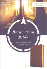 CSB Restoration Bible--soft leather-look, brown
