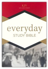 KJV Everyday Study Bible--soft leather-look, charcoal