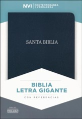 NVI Biblia Letra Gigante, negro piel fabricada con índice, bonded leather - Slightly Imperfect