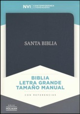 Biblia NVI Letra Grande Tam. Manual, Piel Fab. Negro  (NVI Large Print Handy-Size Bible, Black Bonded Leather)