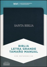 Biblia NVI Letra Gde. Tam. Manual, Piel Fab. Negra, Indice  (NVI Large Print Handy-Size Bible, Black Bon. Leather, Ind.)