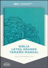 Biblia NVI Letra Grande Tam. Manual, Piel Imit. Aqua  (NVI Large Print Handy-Size Bible, Aqua Imit. Leather)