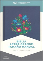 Biblia NVI Letra Grande Tam. Manual, Bordado Sobre Tela  (NVI Large Print Handy-Size Bible, Cloth Over Board)