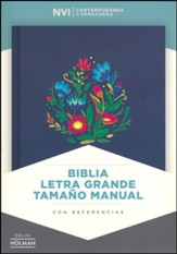 Biblia NVI Letra Grande Tam. Manual, Bordado Sobre Tela, Ind.  (NVI Large Print Handy-Size Bible, Cloth Over Board, Ind.)