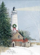 Lighthouse Christmas Cards, Box of 12
