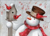 Snowman and Cardinals Christmas Cards, Box of 12