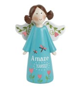 Amaze Yourself Angel Holding Flowers, Blue
