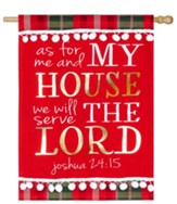 Serve the Lord Linen Flag, Large