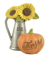 Pitcher with Thankful Pumpkin