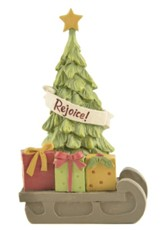 Rejoice, Christmas Tree with Gifts, Figurine