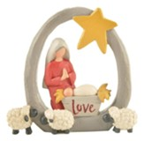 Mary and Baby Jesus with Sheep Figurine