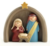 Holy Family with Creche Figurine