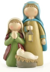 Holy Family with Lantern Figurine