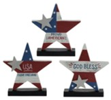 Americana Stars Figurines, Set of 3