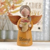 Blessings Abound Angel Holding Cornucopia Figurine