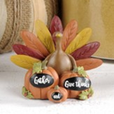 Gather and Give Thanks, Pumpkins and Turkey, Figurine