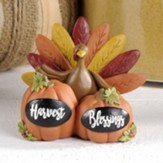 Harvest Blessings, Pumpkins with Turkey, Figurine