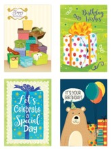 Pretty Packages Birthday Cards, Box of 12