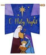 Oh Holy Night Applique Flag, Large