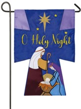 Oh Holy Night Applique Flag, Small