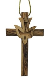 Cross With Dove Ornament