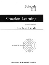 Situation Learning Schedule 3D  Teacher's Guide