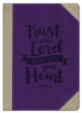 Trust in the Lord Journal; Leather Lux  - Slightly Imperfect