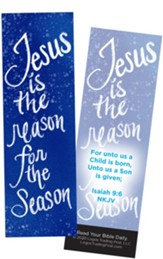 Jesus is the Reason for the Season, Isaiah 9:6 Bookmarks, Pack of 25
