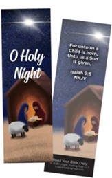 O Holy Night, Isaiah 9:6 Bookmarks, Pack of 25