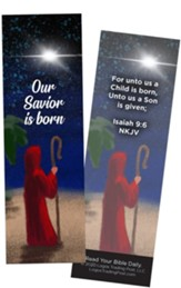 Our Savior is Born, Isaiah 9:6 Bookmarks, Pack of 25