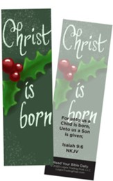 Christ is Born, Isaiah 9:6 Bookmarks, Pack of 25