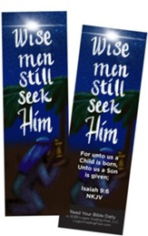 Wise Men Still Seek Him, Isaiah 9:6 Bookmarks, Pack of 25