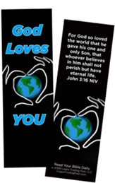 God Loves You, John 3:16 Bookmarks, Pack of 25