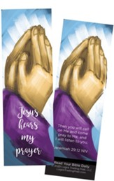 Jesus Hears My Prayer, Jeremiah 29:12 Bookmarks, Pack of 25