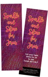 Sparkle and Shine for Jesus, Isaiah 60:1 Bookmarks, Pack of 25
