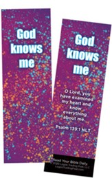 God Knows Me, Psalm 139:1 Bookmarks, Pack of 25