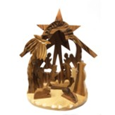 Holy Land Olive Wood Nativity, 3D Grotto, Large