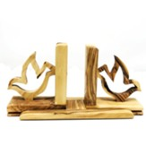 Holy Land Olive Wood Bookends with Holy Spirit Dove
