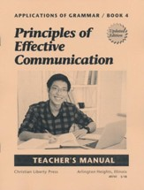 Applications of Grammar Book 4:  Principles of Effective  Communication Teacher's Manual (2nd Edition)